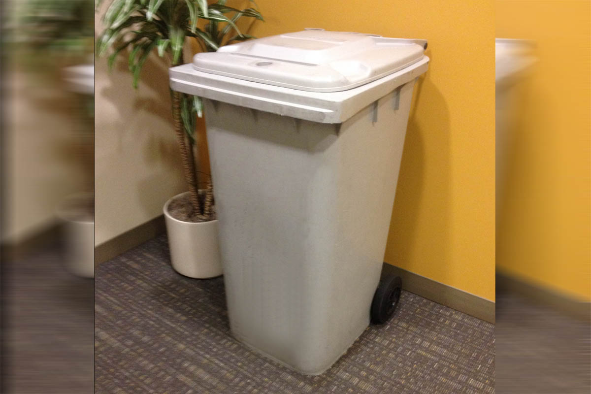 on site shredding service - 64 gallon locked bin for your confidential documents