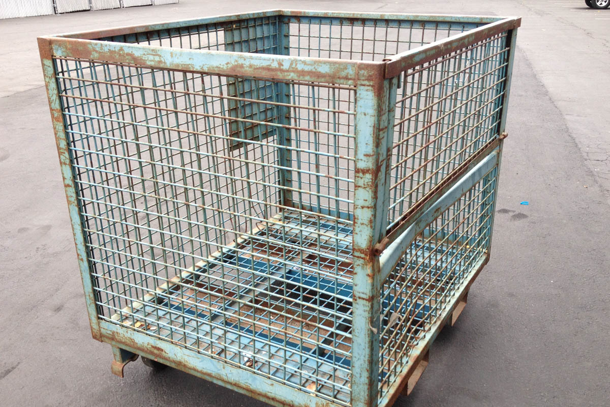 on site shredding service - cage for recycling