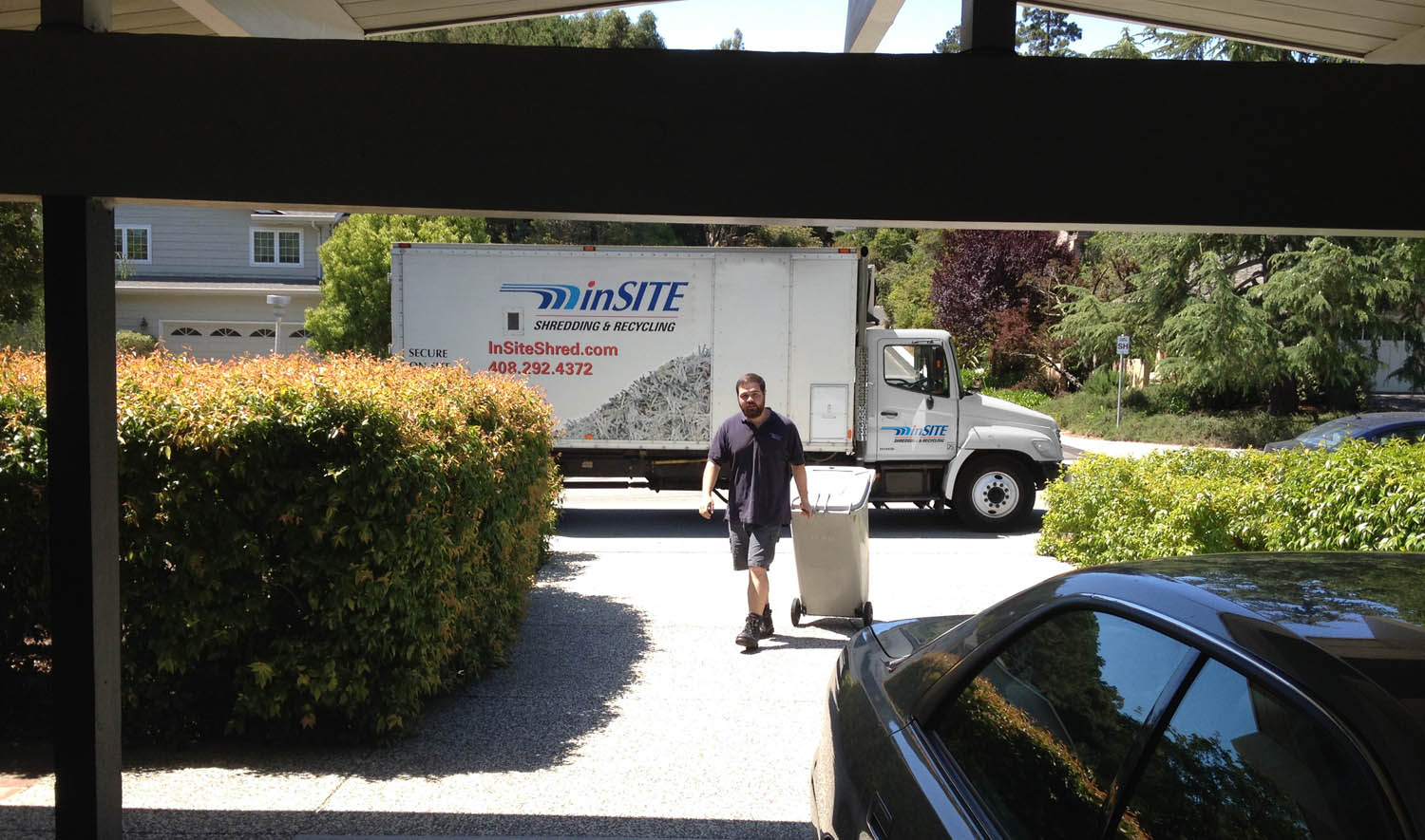Insite shredding residential on site shredding service