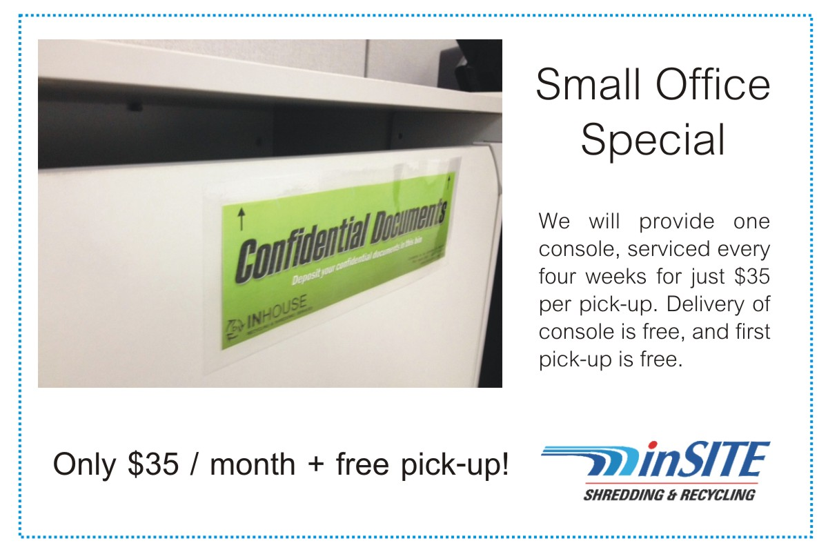 small office special shredding at the lowest price