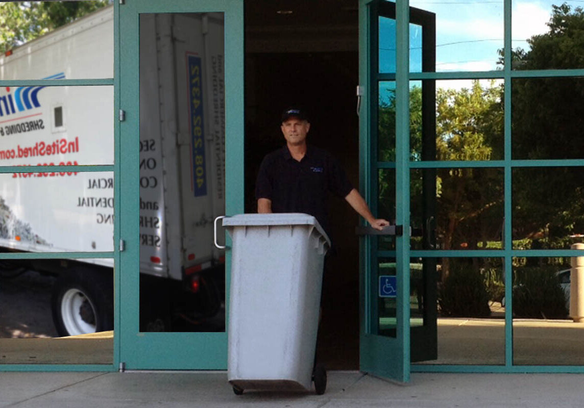 on site shredding service for your business - exiting your building