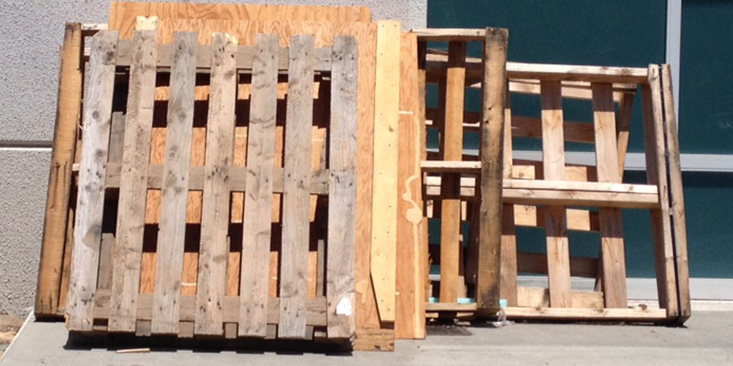 on site shredding service - pallets to be recycled