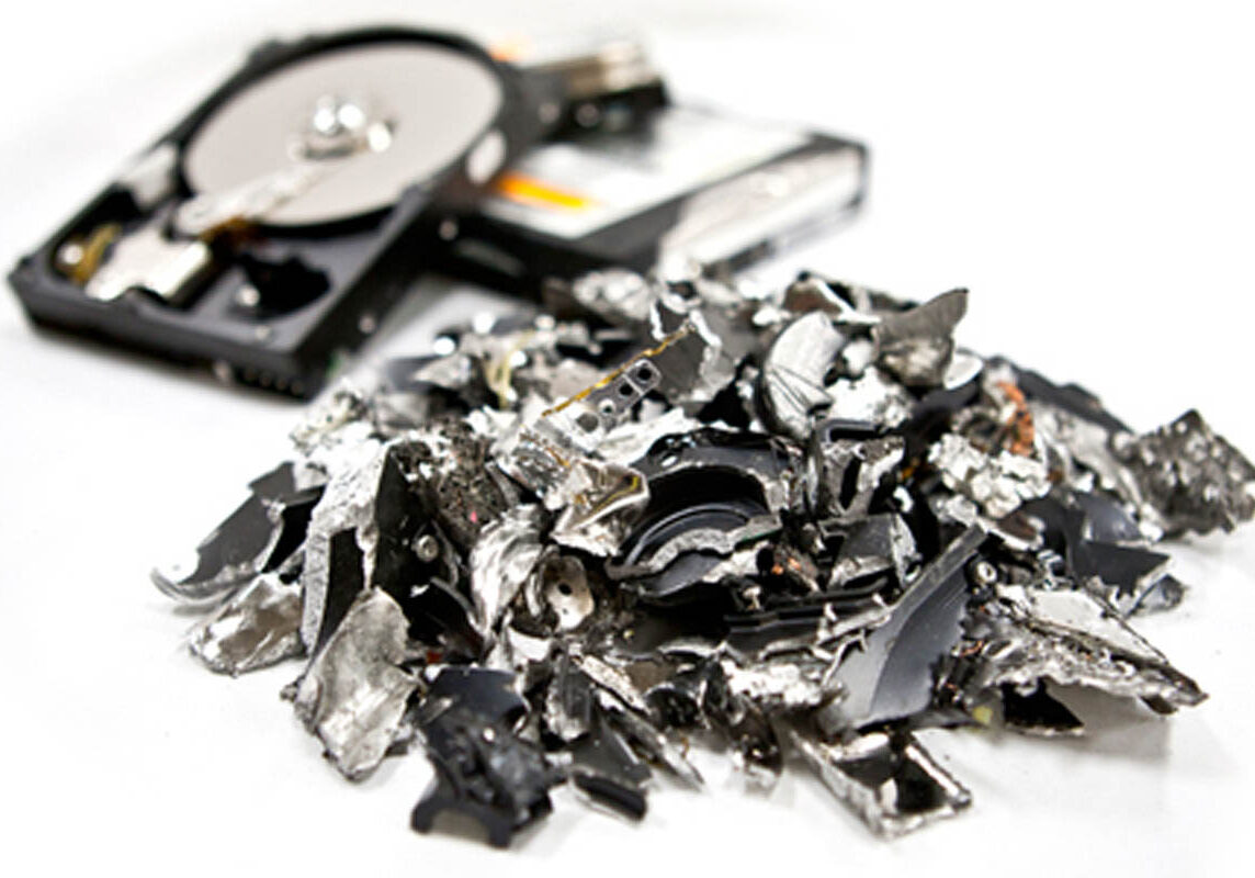 on site shredding service - hard drives